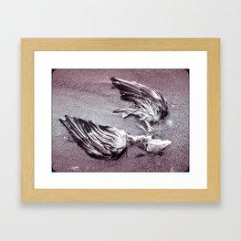 broken hearted as a heart can be Framed Art Print