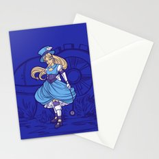 Steampunk Alice Stationery Cards