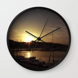 Sitting on the dock Wall Clock