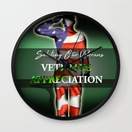 Veterans Appreciation Wall Clock