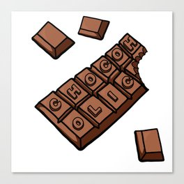 Chocoholic Illustration Canvas Print