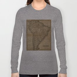 Vintage Map of South America (1825) Long Sleeve T-shirt