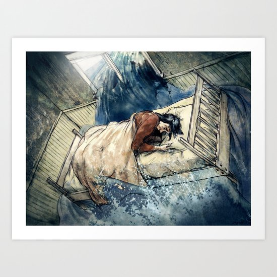 Crooked Creek #5 Art Print