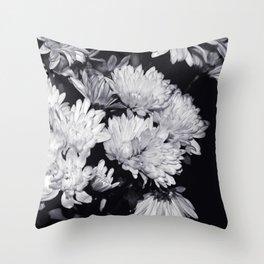Flowers Black & White. Throw Pillow