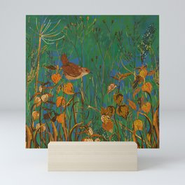 Winter Glimpses - Wren and Physalis Mini Art Print