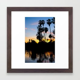 Greetings From Echo Park, Los Angeles Framed Art Print