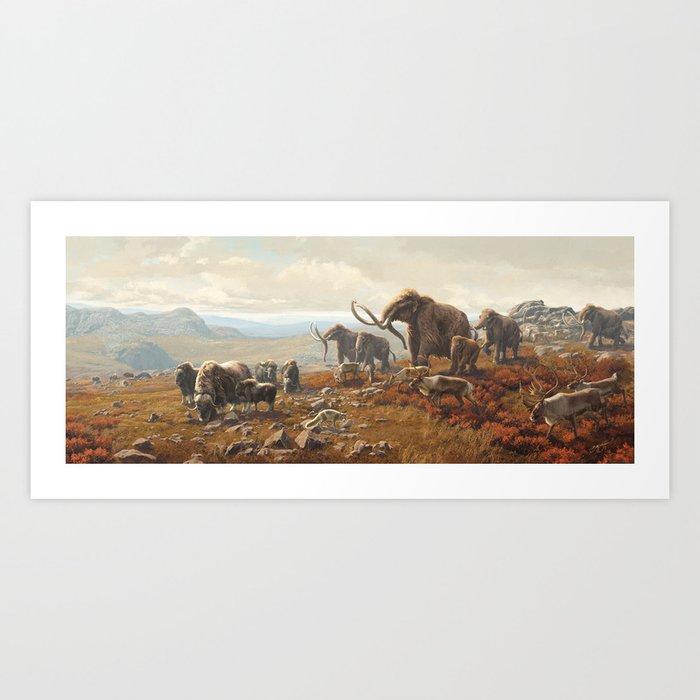 New York Pleistocene Tundra Art Print