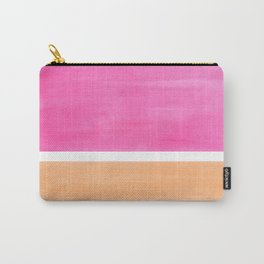 Colorful Bright Minimalist Rothko Pastel Pink Peach Midcentury Modern Art Vintage Pop Art Carry-All Pouch