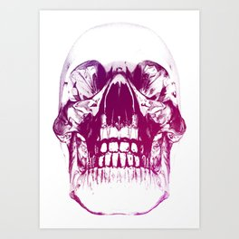 purple crystal skull Art Print