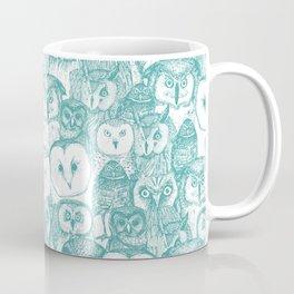 just owls teal blue Coffee Mug