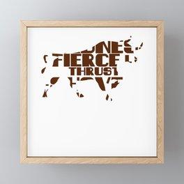 Bull Market Word Puzzle Framed Mini Art Print