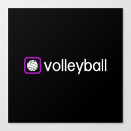 Volleyball (Purple) Canvas Print