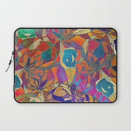 Abstract colorful hand painted watercolor floral Laptop Sleeve