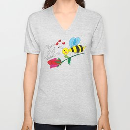 Bee My Valentine Unisex V-Neck