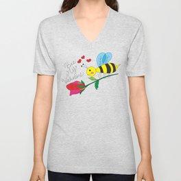 Bee My Valentine Unisex V-Neck
