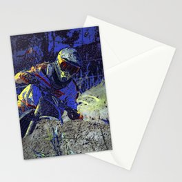 Trail Blazer Motocross Rider Stationery Cards