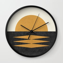 Sunset Geometric Midcentury style Wall Clock