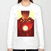 robert downey jr Long Sleeve T-shirts featuring Iron Man *** by Hands in the Sky