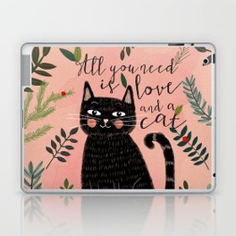 ALL YOU NEED IS LOVE AND A CAT Laptop & iPad Skin