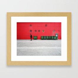 Red Hong Kong Framed Art Print