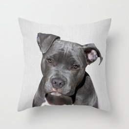 Pit bull - Colorful Throw Pillow