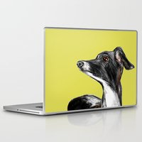 greyhound Laptop & iPad Skins featuring Greyhound by James Peart