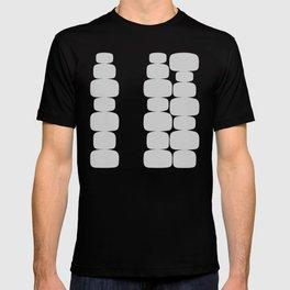 Abstraction_Balance_ROCKS_BLACK_WHITE_Minimalism_001 T-shirt