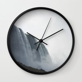 From below where all the water falls, Niagara 01 Wall Clock