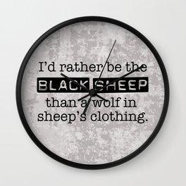 Labeled the Black Sheep Wall Clock