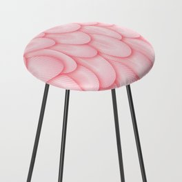 Spoonbill Feathers Counter Stool