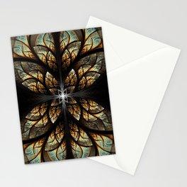 The Nexus - Metallic Black Stationery Cards