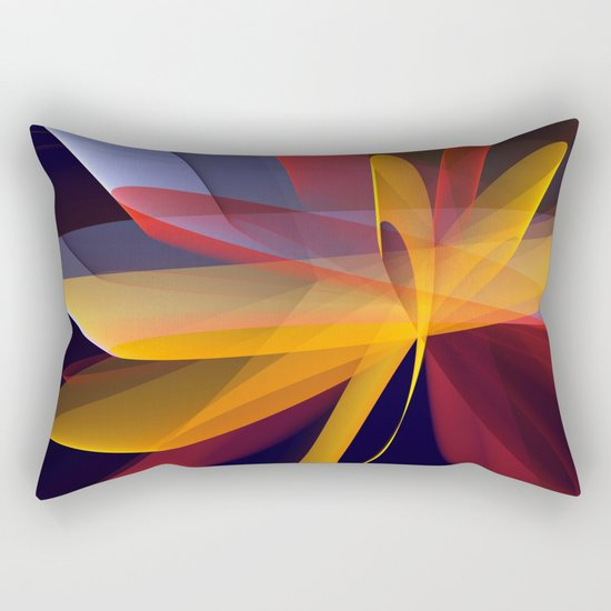 Transparent foldings, modern colourful abstract Rectangular Pillow