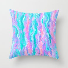 Aqua Melt Throw Pillow