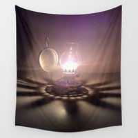 duvet cover Wall Tapestries featuring LIGHT AND SHADOW DUVET COVER by aztosaha