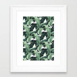 Tropical Banana Leaf Framed Art Print