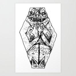 Coffin Creep Art Print