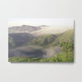 Foggy Mountain View Metal Print