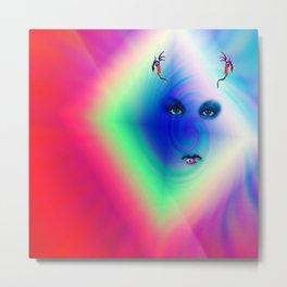 """Her Floating Eyes"" by surrealpete Metal Print"