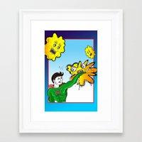superhero Framed Art Prints featuring Superhero by Paloma Mochales
