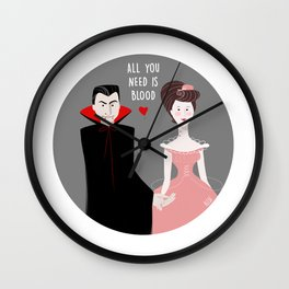 All you need is blood Wall Clock