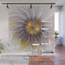 Luminous Flower, Abstract Fractal Art Wall Mural