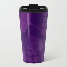 leaves, leaf, gingko, purple tones, pattern combination Travel Mug