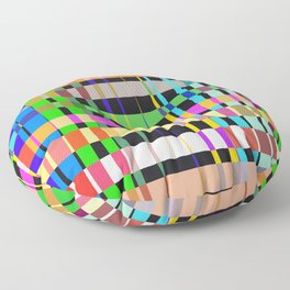 inclined coloured stripes Floor Pillow