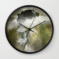 arya Wall Clocks featuring Man floating by ARTiSTiC TENDENCiES