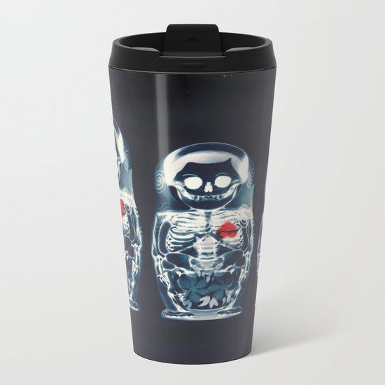Nesting Doll X-Ray Metal Travel Mug
