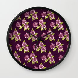 Jessica Purple Wall Clock