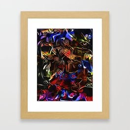 JUMPING JACKS Framed Art Print