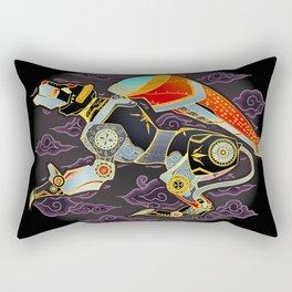 Black Lion Batik Rectangular Pillow