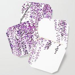 purple wisteria in bloom Coaster
