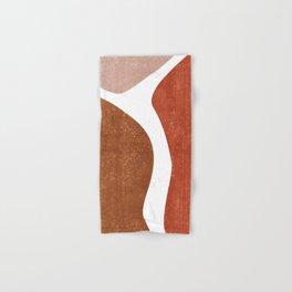 Terracotta Art Print 2 - Terracotta Abstract - Modern, Minimal, Contemporary Abstract - Brown, Beige Hand & Bath Towel